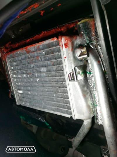 Radiator pechki na zamenu